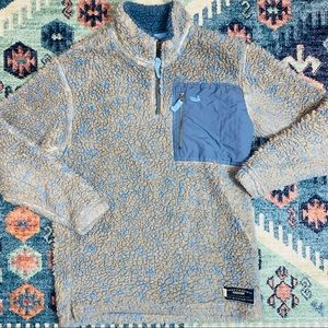 Southern Marsh boys large blue sherpa pullover kid